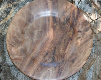 Serving platter - Hand turned wooden platter made from Maple with onyx inlay