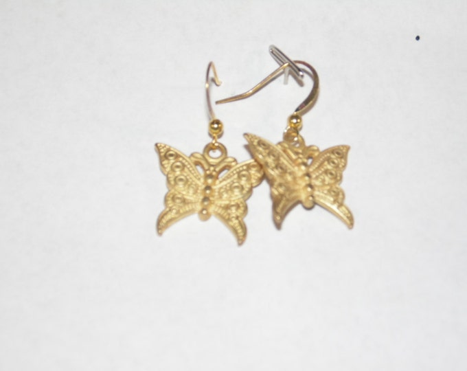 Gold Buterfly Earrings