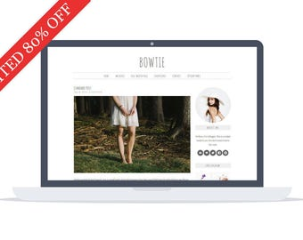 80% OFF - Bowtie Wordpress Theme - Custom Theme - Premade Blog Template - Minimalist Theme  - Self Hosted Theme - Instant Download