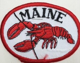 Maine Vintage Souvenir Travel Patch by Nanco