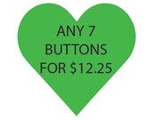 7 Buttons, Pinback, Choose Your Own, Custom, Button Deal, Pick Your Own, Feminism, Horror, Spooky, Feminist, Womens Rights, LGBT, Queer