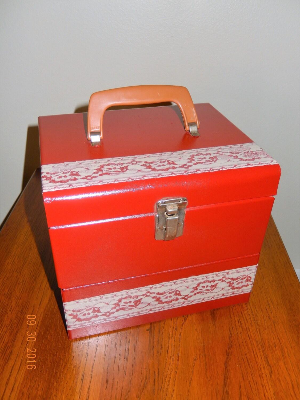 vintage metal box vintage lockable storage box antique metal box antique storage box with natural wear vintage metal lockbox