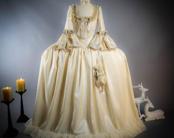 Marie Antoinette Dress, Historical Wedding Dress, 18th Century Dress, 18th Century corset, 18th Century Dress Wedding Dress.