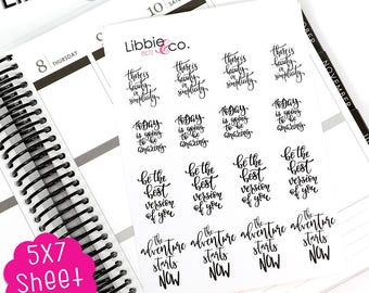 MC77 Inspirational Quote Stickers!!!!  Perfect for the Erin Condren Planner!!!!