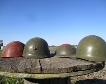 4 WWI WWII Army Military Helmets Vintage Liner Uniform US Combat Camouflage