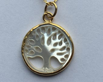 Life Tree Necklace Mother of Pearl