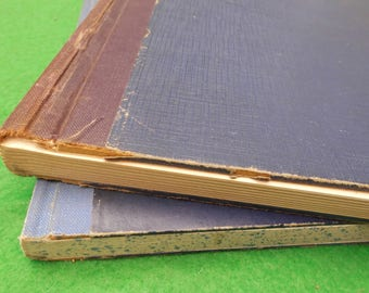 vintage blank notebook journal mid centuary x 2