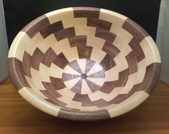 Maple and Walnut Segmented Bowl