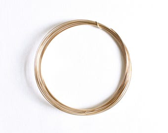 1 Foot - 16 Gauge - 14k Gold Filled Wire - Half Hard Round Wire - Jewelry Wire - Crafting Wire - Bulk Gold Wire - Wholesale - GF HH Wire