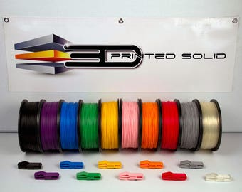 Premium 3D Printing Filament (PLA) 1.75mm 3D Printed Solid's Made in the USA