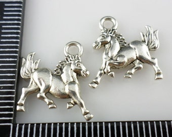 60/500Pcs Tibetan Silver Horse/Steed Charms Pendant 14x15mm