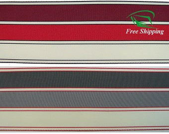 "2-7/8"" (74mm) Trio Stripe Grosgrain Ribbon 1026 (BTY)"