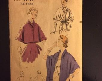 1951 Vintage Vogue Pattern- #7324- Cape and Cape/Stole