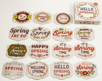 45 sticker set / spring / happy spring!