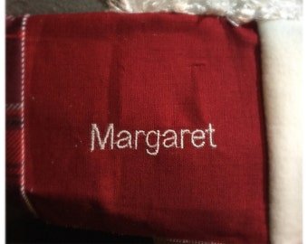 Embroidered Name - Upgrade