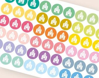 54 church stickers, sunday school stickers, planner stickers, christian bible study stickers, faith cross eclp filofax happy planner kikkik