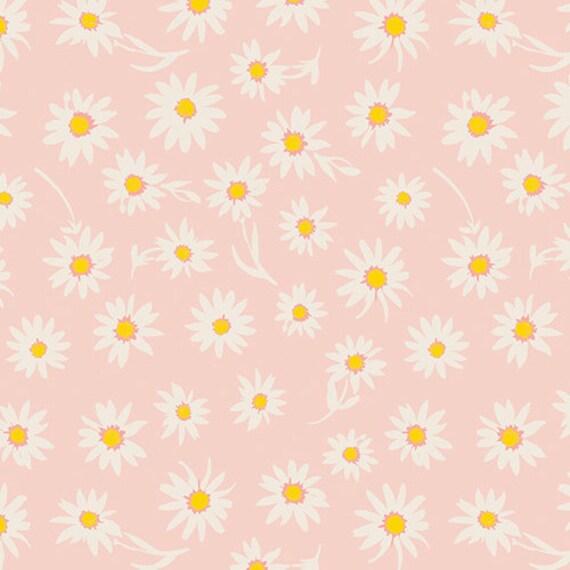 Crib Skirt >> Wonderful Things Flower Glory in Pink > MADE-to-ORDER blush crib skirt, daisy crib skirt, pink floral bedding, baby bedding