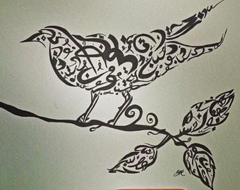 Original Handmade Calligraphy . signed by artist