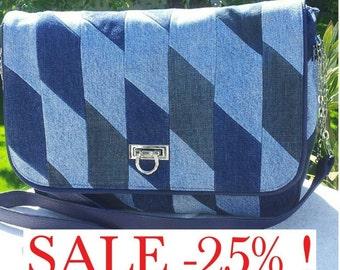 SALE % denim (jeans) shoulder bag