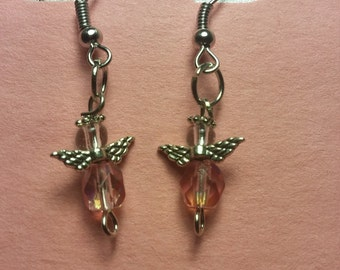 Angel Earrings with the October birthstone