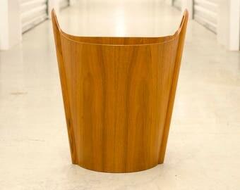 heavy lucite wastebasket vessel