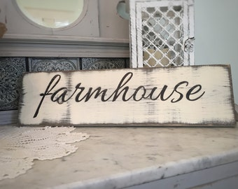 Farmhouse Sign, Rustic Farmhouse Sign, Hand Painted Wood Sign