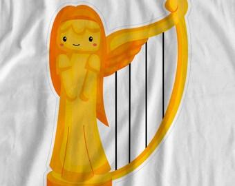 Jack And The Beanstalk - Golden Harp - Iron On Transfer