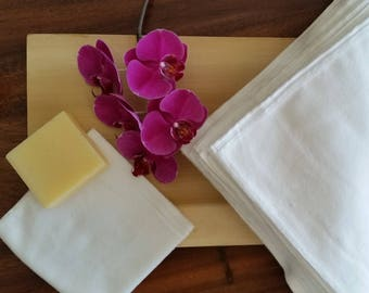 Reusable Eco friendly/ Set Washcloths / Cotton Flannel