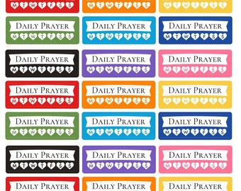 Daily Prayer stickers, Lds stickers