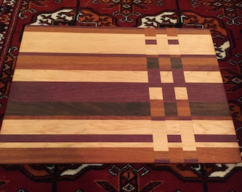 Handmade Large Cutting/Chopping Board or Serving Board, Exotic Wood L10