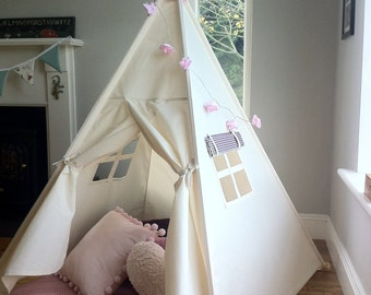 Kids Teepee play tent with poles included