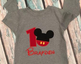 Mickey first birthday shirt