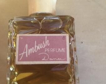 Vintage Ambush perfume decanter by Dana, 1/2 fl. oz perfume perfume bottle, collectible perfume Ambush decanter, ambush vintage bottle