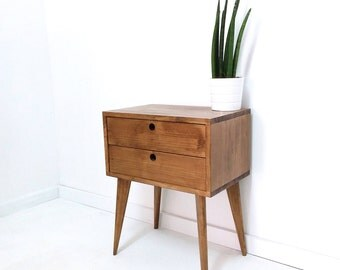 Bedside Table With 2 Drawers, Bedside Drawers, Side Table, Nightstand, End  Table