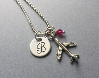 Airplane Necklace-Travel Jewelry-Vacation Necklace