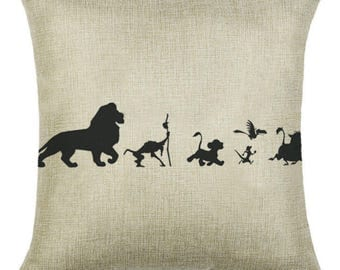 Lion King Disney Simba Pillow Cushion Cover Linen Cotton Shabby Chic