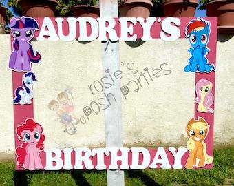 My Little Pony Birthday Party Photo booth For guests for Birthday Party pictures photos My Little Pony birthday