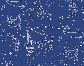 Birch Fabrics - Saltwater - Stars of the Sea - Organic Cotton Woven Fabric - FINAL CLEARANCE