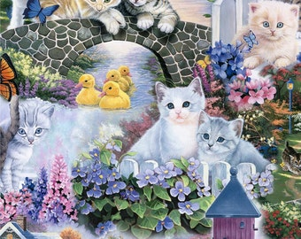 Animal Reign Digital Prints by David Textiles - A Purfect Day - Cotton Woven Fabric