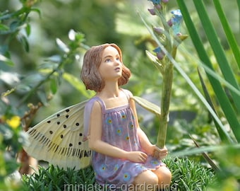 Forget-Me-Not Fairy for Miniature Garden, Fairy Garden