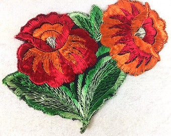 Antique Silk Chrysanthemum Patch Embroidery Applique Patches Antique Flower Patch Applique 1935 Nr 1