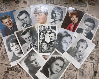 Vintage Postcard, Postcards set, soviet postcard USSR, russian postcards, collectibles cards, Paper Ephemera, Soviet Artists,  USSR Cards