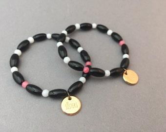 "Bead bracelets partner wristbands ""Sister"" 2 piece"