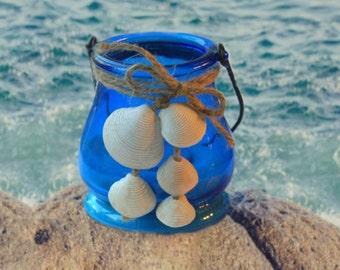 Sea Shell Candle Tea Light Holder Beachy Décor Seashell Wedding Beach Tea Lights Wedding Lanterns Seashell Décor Beach Candles Beach Wedding