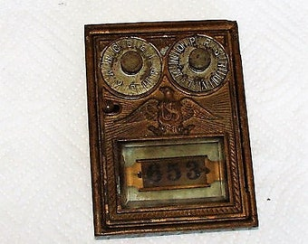 Post Office Box Door Double Combo In Beautiful Condition Very Ornate