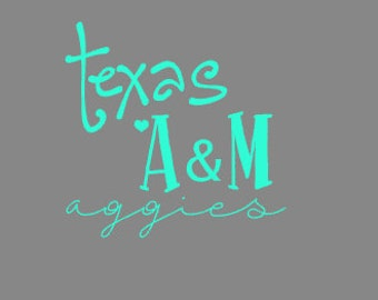 Texas A&M Aggies Decal