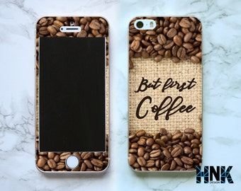 Iphone SE full skin / Iphone 5s decal / Iphone 5 decorative cover / coffee case IS007