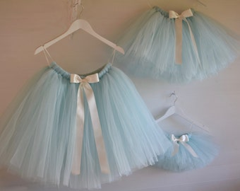 Flower girl tutu, flower girl dress,  pastel blue tutu, tutu, bridesmaid, ballet tutu, tutu skirt, baby tutu, wedding tutu, princess tutu