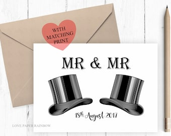 gay wedding card mr and mr wedding card mr and mr card gay
