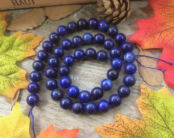 8mm Natural Lapis Lazuli Round Beads Jewelry Findings Loose Beads For Bracelet Necklace DIY Accessories 15 inches